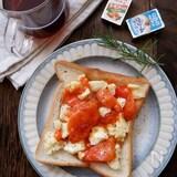 かけるだけ!柿と2種のチーズトースト