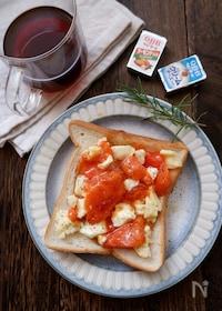 『かけるだけ!柿と2種のチーズトースト』