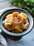 1品で彩りキレイな海老と枝豆のレモンガーリック炒め【お弁当】