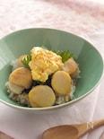 帆立と卵のタルタル丼