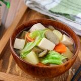 春野菜と豆腐の具だくさん味噌汁