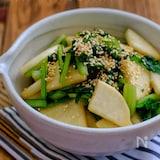 ポリ袋で簡単!*大根と小松菜の即席醤油漬け*