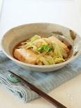 蒸し焼きで時短☆豆腐とキャベツのすき焼き風