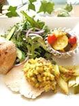 塩麹蒸し鶏&野菜粒マスタードソース
