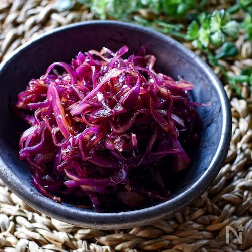 紫キャベツのソースマリネ【作り置き】