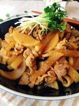 豚肉と大根の甘辛炒め(カレー風味)