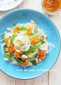 『大豆入り 新玉ねぎと絹さやの栄養バランスサラダ  』
