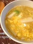 たっぷり白菜の中華風ふんわり卵スープ☆うどん入り
