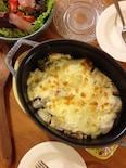 牡蠣と里芋と長ネギのグラタン