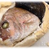 お正月やお祝いには鯛の塩釜焼き