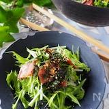 【水菜がパリパリ】ベーコンとパリパリ水菜のやみつき無限ナムル