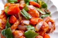 豚肉より好きかも♡3種類の彩り野菜を使った酢鶏