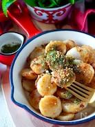 【帆立?長芋?どちらも美味しい】帆立と長芋まん丸のり塩バター