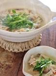 鶏肉とキノコのスープ