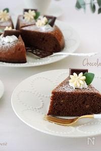 型・オーブン不要!炊飯器de<らくウマ>チョコバナナケーキ