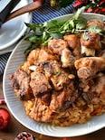 焼いて入れるだけ♡炊飯器de豚スペアリブのBBQ風炊き込み♡