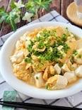 たった5分で完成♪ふわふわ美味しい♡崩し豆腐の中華風卵とじ