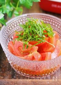 『トマトのポン酢だれ漬け【#作り置き #やみつき】』