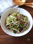 大根と豆苗の焼肉サラダ