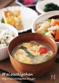 『寒い日は*キャベツとたまごの優しいとろみスープ♡』