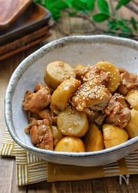『*里芋と鶏肉のこっくりバター照り煮*』