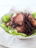 鮭と海藻のサラダ
