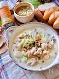 味付けはこれひとつ!『鶏肉と白菜の和風クリーム煮』
