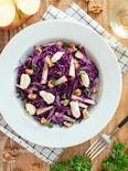 紫キャベツとりんごのサラダ。パーティーやおもてなしの前菜に♪