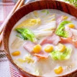 和洋仕立て♪『白菜とベーコンのクリームスープ』