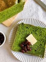 ホームベーカリー可!まるでシフォンケーキ?抹茶シフォン食パン