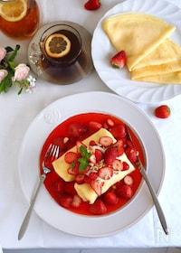『苺まみれクレープ』