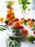 どこからか香るパクチー♪ カラフルトマトのパクチーピクルス