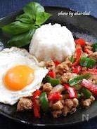 焼き肉のタレで簡単ガパオライス