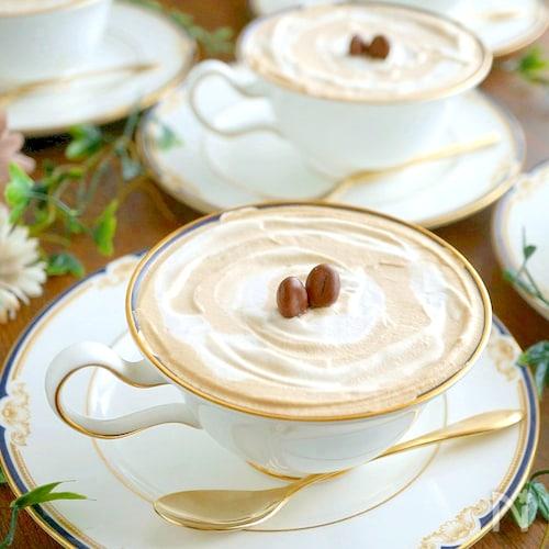 火入れ無し!ふわふわコーヒーホイップのカプチーノ風ケーキ