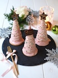 ピンクのツリーチーズケーキ