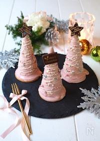 『ピンクのツリーチーズケーキ』