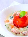 マッシュポテトのトマトソースがけとクリームシチューの作り方