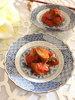 きゅうりのトマトみそ煮