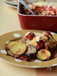 パックから触らず出すだけ☆ひき肉と野菜のオーブン焼き