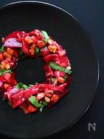 【クリスマス料理】ビーツと生ハムのリースサラダの作り方レシピ