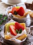 天ぷら粉で簡単♪材料5つで作れる☆とろけるフルーツケーキ