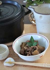 『牛すじ肉と蒟蒻の山椒甘辛煮』