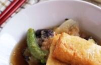 野菜の旨味たっぷり!彩り野菜と厚揚げの♡揚げ出し豆腐風