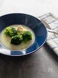 鶏むね肉とブロッコリーの白いスープ