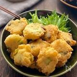 豆腐と枝豆じゃこチーズの落とし揚げ