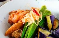とろ〜り茄子とカリカリ豚肉のさっぱり南蛮酢【ご飯おかわり!】