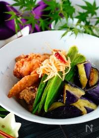 『とろ〜り茄子とカリカリ豚肉のさっぱり南蛮酢【ご飯おかわり!】』