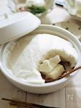 ふわふわメレンゲ鍋の豆腐しゃぶしゃぶ