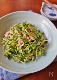 『豆苗とツナのマスタードサラダ』