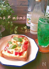 『ピッツァ マルゲリータ風トースト♪』